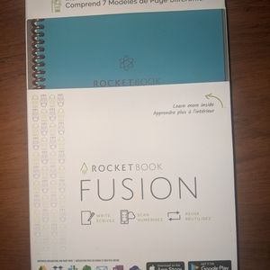 Reserved Fusion notebooks and pen